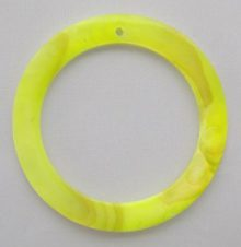Makabibi yellow green Shell Hoop Pendant limited stock only