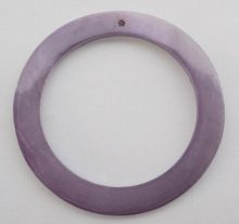 Makabibi Purple Shell Hoop Pendant limited stock only