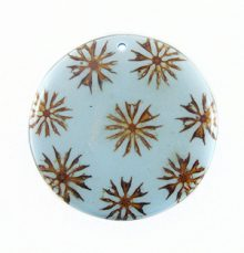 Majong-majong inlay round light blue