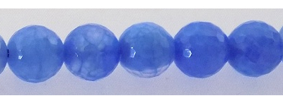 Blue Fire Faceted Agate 8mm wholesale gemstones