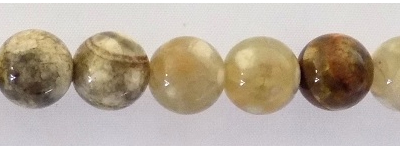 Olive Green Fire Agate 8mm round wholesale gemstones