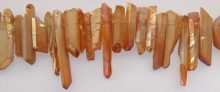 Peach Electroplated Crystal Points wholesale gemstones