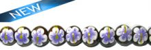 Robles round wood 10mm beads, purple flower