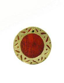 Sibucao wood round gold framed design