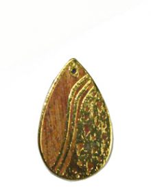 Kamachile wood teardrop carved gold frame