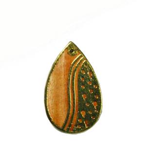 Mahogany teardrop carved gold frame design