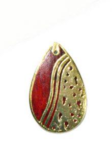 Sibucao wood teardrop carved gold framed