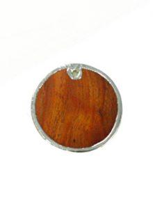 Kamachile wood round silver framed 30mm