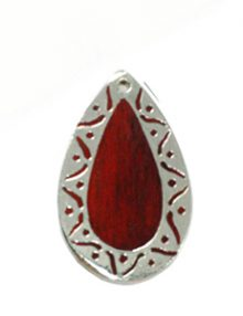 Sibucao teardrop carved silver frame design