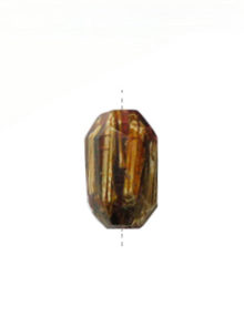 Laminated albutra roots embedded in faceted tube resin rose