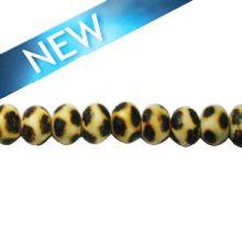 Wooden round 10mm leopard design bead
