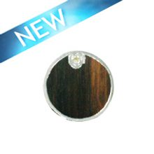 Tiger Ebony wood round silver framed 30m