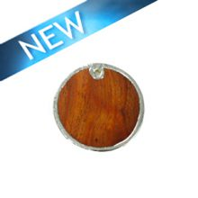 Kamachile wood round silver framed 30mm