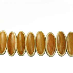 Bayong wood oval parqueted component