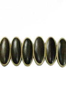 Tiger Ebony wood oval parqueted component