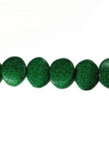 Palmwood Irregular slices round 19mm dyed green