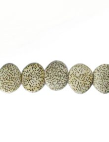 wholesale Irregular bleached palm wood round 19mm beads