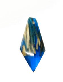 Laminated albutra roots embedded in Blue color resin