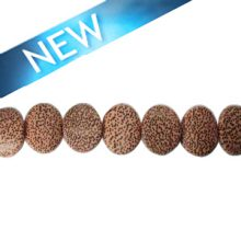 wholesale Irregular palm wood round 19mm beads