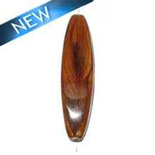 Four-sided Mahogany wood tube laminated with rooster feather natural brown