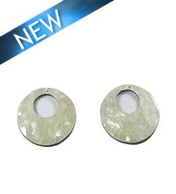 Hammer shell round back to back cracking wholesale pendant
