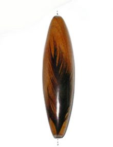 Football Mahogany wood laminated with rooster feather natural brown
