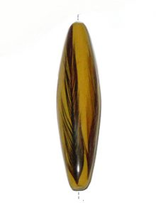 Football Mahogany wood laminated with rooster feather yellow