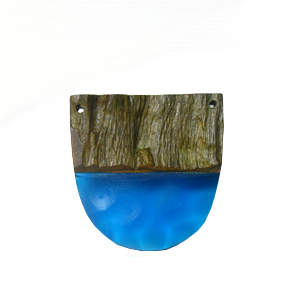 Robles drift wood with pasted electric blue resin
