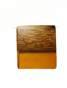 Palmwood pendant with frosted rust