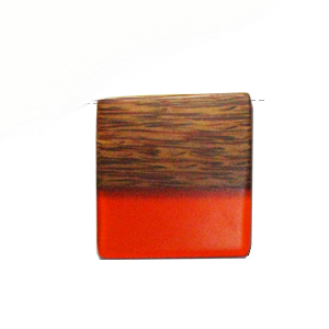 Palmwood pendant with frosted orange resin