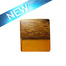 Rectangular Palmwood pendant with frosted rust resin inlay