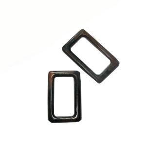 Tiger ebony wood rectangular kalar pendant 53mm