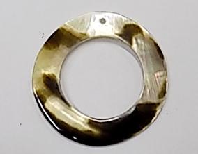 Wholesale Blacklip Shell Donut Pendant