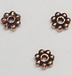wholesale Copper Bali-style Spacer Flower 4mm