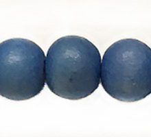 Wholesale White wood 10mm round dyed beads Turquoise with 2mm hole