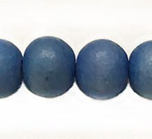 White wood 8mm round dyed beads Turquoise