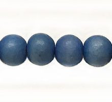 Wholesale White wood 6mm round dyed beads Turquoise with 2mm hole-Limited Stock Only