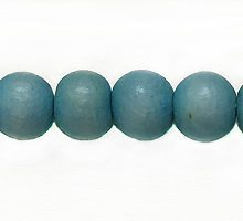Wholesale White wood 6mm round dyed beads pastel blue with 2mm hole-Limited Stock Only