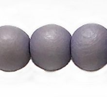 White wood 10mm round dyed beads lavender