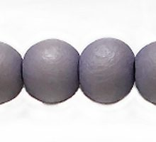 White wood 8mm round dyed beads lavender