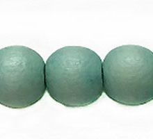 Wholesale White wood 10mm round dyed beads pastel green with 2mm hole