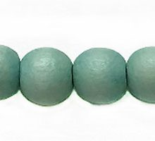Wholesale White wood 8mm round dyed beads pastel green with 2mm hole