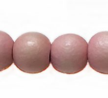 Wholesale White wood 8mm round dyed beads pastel pink with 2mm hole