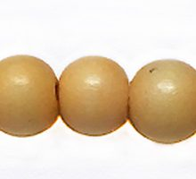 Wholesale White wood 10mm round dyed beads pastel yellow with 2mm hole