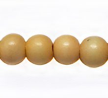 Wholesale White wood 6mm round dyed beads pastel yellow with 2mm hole