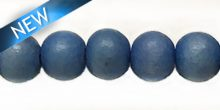 Wholesale White wood 10mm round dyed beads Turquoise