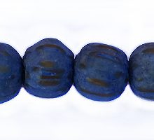 Wholesale Dyed Palmwood 8mm round beads Lapis Blue-Limited Stock Only