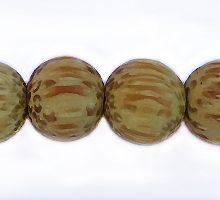 Wholesale Dyed Palmwood 8mm round beads yellow-Limited Stock Only