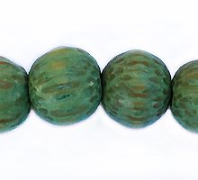 Wholesale Dyed Palmwood 8mm round beads Green-Limited Stock Only