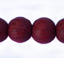 Wholesale Dyed Palmwood 8mm round beads Red-Limited Stock Only